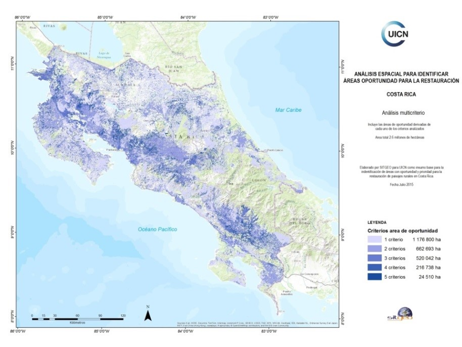 Costa Rica opportunity map