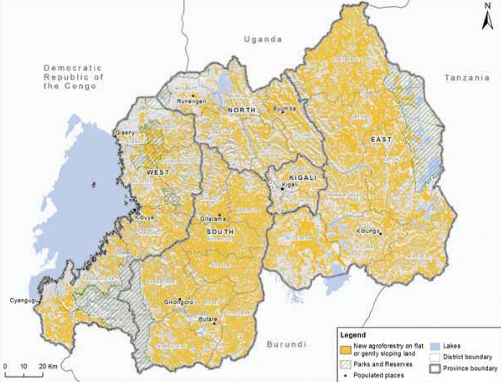 Rwanda restoration opportunities on flat land